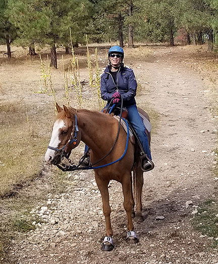 Fall trail ride, Rachel and Tawny